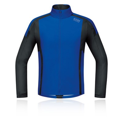 CAMISETA WINDSTOPPER SOFT SHELL GORE AZUL/NEGRA