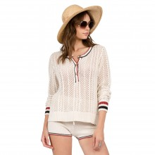 JERSEY VOLCOM THUMBS UP HENLEY BEIGE