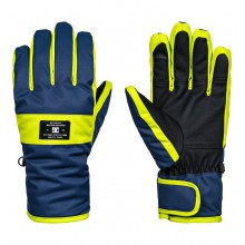 GUANTES DC SHOES FRANCHISE AZUL/LIMA