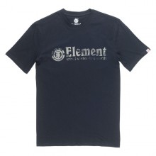 CAMISETA ELEMENT BARK HORIZONTAL NEGRO
