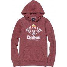 SUDADERA ELEMENT LAYER GRANATE
