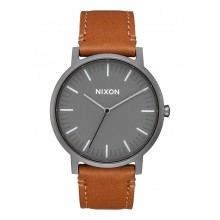 RELOJ NIXON PORTER LEATHER GUNMETAL