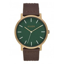 RELOJ NIXON PORTER LEATHER PALM GREEN
