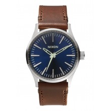 RELOJ NIXON SENTRY 38 LEATHER BLUE BROWN