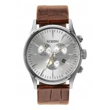 RELOJ NIXON SENTRY CHRONO LEATHER SADDLE GATOR