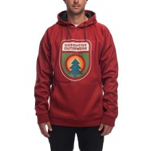 SUDADERA 686 KNOCKOUT BONDED RUSTY RED