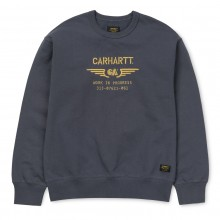 SUDADERA CARHARTT CA WINGS SWEAT BLACKSMITH/GOLD