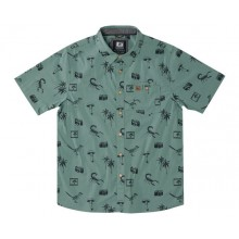 CAMISA HIPPYTREE PALMS WOVEN VERDE