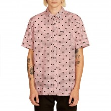 CAMISA VOLCOM CROSSED UP S/S ROSA
