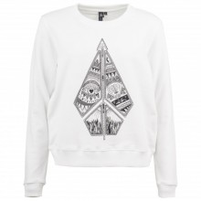 SUDADERA W VOLCOM SOUND CHECK FLEECE BLANCO