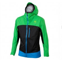 CHAQUETA KARPOS LOT RAIN GREEN/BLACK/BLUETTE