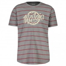 CAMISETA MALOJA PRACOMM. RED POPPY CHAINSTRIPE