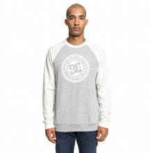 SUDADERA DC SHOES CIRCLE STAR CREW RAGLAN GRIS