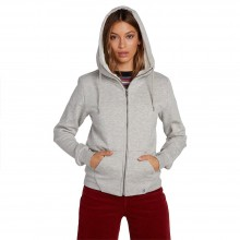 SUDADERA W VOLCOM WALK ON BY SHERPA GRIS