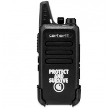 WALKIE TALKIE CARHARTT PROTECT SURVIVE NEGRO