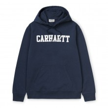 SUDADERA CARHARTT HOODED COLLEGE AZUL/BLANCO