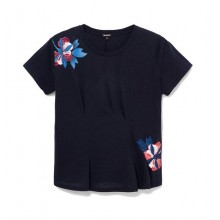 CAMISETA DESIGUAL THE FRONT PLEATS JAPAIN NEGRO