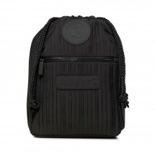 MOCHILA DESIGUAL BACK PACK PLEATS NEGRO