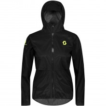 CHAQUETA MUJER SCOTT WS RC RUN WP BLACK/YELLOW