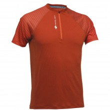 CAMISETA RAIDLIGHT ACTIV RUN MID ZIP BURNT ORANGE