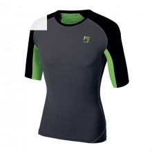 CAMISETA KARPOS LAVAREDO DARK GREY/GREEN FLUO