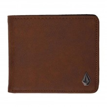 CARTERA VOLCOM SLIM STONE PU BROWN