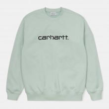 SUDADERA CARHARTT SWEAT FROSTED GREEN