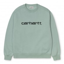 SUDADERA W CARHARTT SWEAT FROSTED GREEN