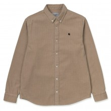 CAMISA CARHARTT MADISON CORD WALL/BLACK