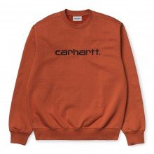 SUDADERA CARHARTT SWEAT CINNAMON BLACK