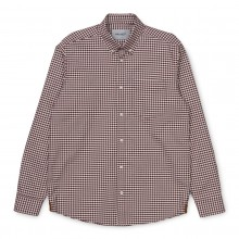 CAMISA CARHARTT BINTLEY BORDEAUX
