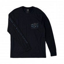 CAMISETA HIPPYTREE LOCALS LONG SLEEVE NAVY