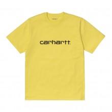 Camiseta Carhartt S/S Script Limoncello/Black