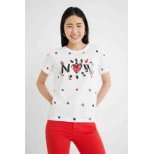 Camiseta Desigual Now Blanco