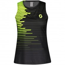 Camiseta Scott Mujer Tirantes RC RUN Negro/Amarillo