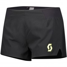 Pantalon Scott Mujer Split RC Run Negro/Amarillo