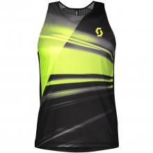 Camiseta Scott RC Run Negro/Amarillo