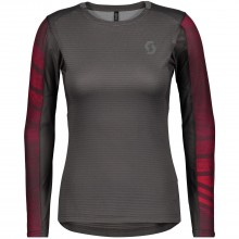 Camiseta Scott Mujer Trail Run L/SL Dary Grey