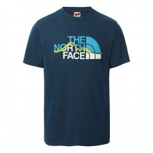 Camiseta The North Face Mount Line Monterey Blue