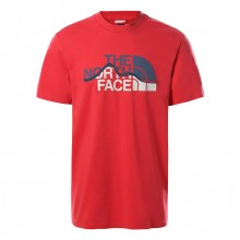 Camiseta The North Face Mount Line Roccoco Red