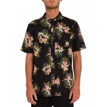 Camisa Volcom Floral With Cheese Black