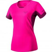 Camiseta W Dynafit Vertical Pink Glo