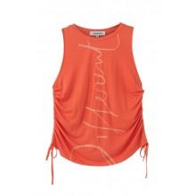 Camiseta Desigual Tank Drawstring Coral