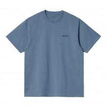 Camiseta Carhartt Script Embroidery Azul