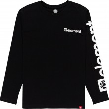 Camiseta Element Joint Ls Flint Black Negro